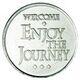 """""""Enjoy The Journey"""" Aluminum AA Desire Chip"""