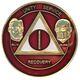 Burgundy & Pearl Founders AA Medallion