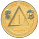 Gold Plate  Founders AA Medallion